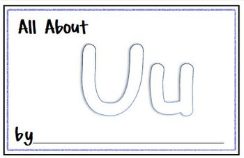 My Letter Journal - U