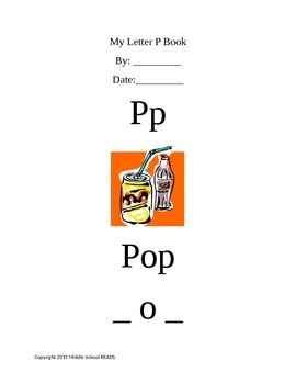 My Letter P Book