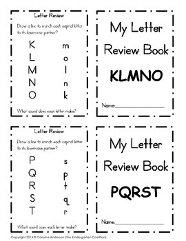 My Letter Review Book KLMNOPQRTS