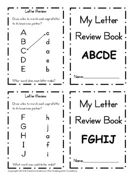 My Letter Review Booklets