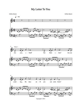 My Letter To You - Sheet Music