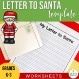 Letter to Santa Christmas Template