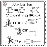 Letters 'I-J-K' Alphabet Counting Book