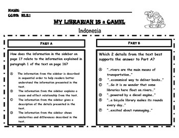 My Librarian Is a Camel PARCC-Like Text-Based Questions