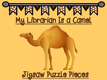 My Librarian Is a Camel Puzzle Piece Labels