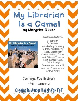 My Librarian is a Camel Activities 4th Grade Journeys Unit