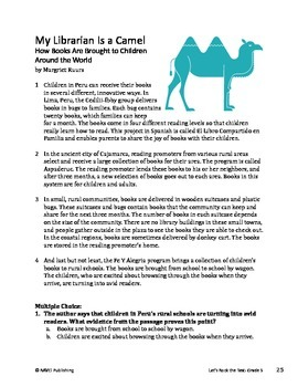 My Librarian is a Camel - Informational Text Test Prep
