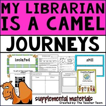 My Librarian is a Camel Journeys 4th Grade Unit 1 Lesson 3 Activities