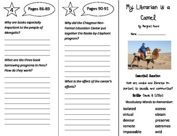 My librarian is a camel teaching resources teachers pay teachers my librarian is a camel trifold journeys 4th grade unit 1 week 3 2014 fandeluxe Images
