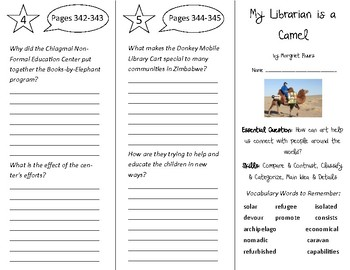 My Librarian is a Camel Trifold - Open Court 5th Grade Unit 3 Lesson 6