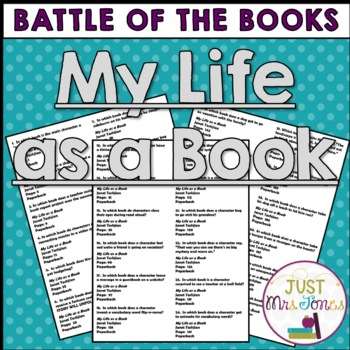 My Life as a Book Battle of the Books Trivia Questions