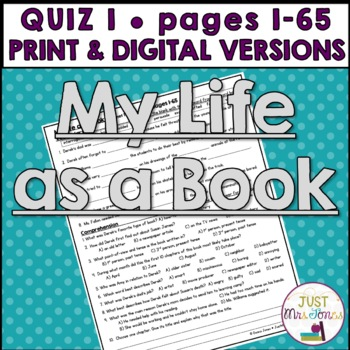 My Life as a Book Quiz 1 (Ch. 1-10, Days 1-5)