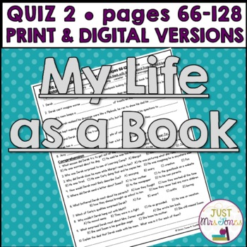 My Life as a Book Quiz 2 (Ch. 11-20, Days 6-10)