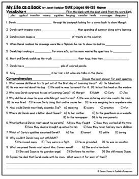 My Life as a Book Quiz 2 (Ch. 11-20)