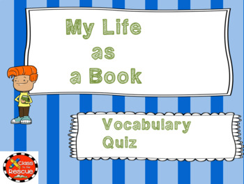 My Life as a Book Vocabulary Boom Cards