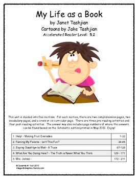 My Life as a Book by Janet Tashjian Literature Unit
