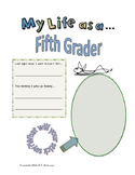 My Life as a Fifth Grader Student Journal (Free Sample Pages)