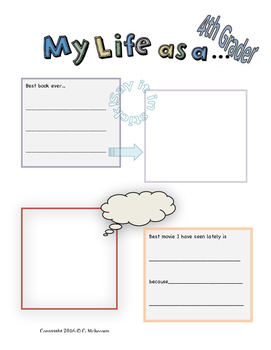 My Life as a Fourth Grader Student Journal (Free Sample Pages)