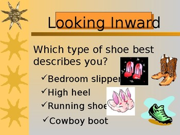 My Life as a Shoe PPT lesson activity
