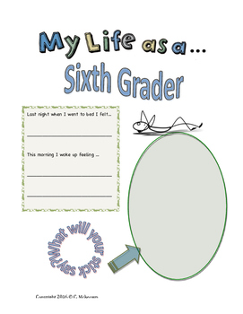 My Life as a Sixth Grader Student Journal (Free Sample Pages)