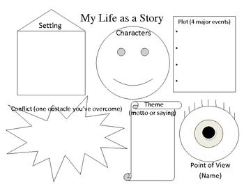 """""""My Life as a Story"""" Graphic Organizer"""