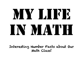 My Life in Math Activity