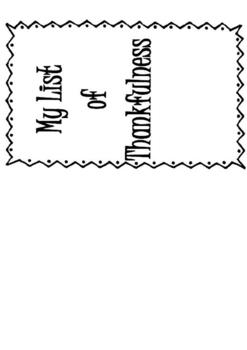 My List of Thankfulness