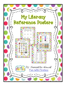 My Literacy Reference Posters
