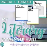 My Literary Scavenger Hunt {Digital & Distance Learning)