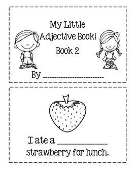 My Little Adjective Book ~ Book 2