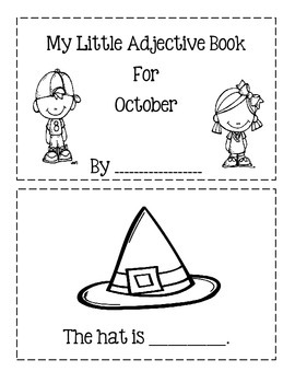 My Little Adjective Book For October!