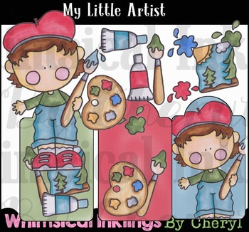 My Little Artist Clipart Collection