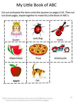 Alphabet Fine Motor Activities Little Book Pre-K K Special Education Autism