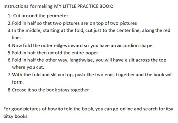 My Little Book bundle for /ʃ/,/ʧ/ and /l/ Pre-K-1