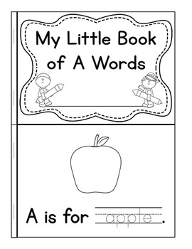 My Little Book of A Words