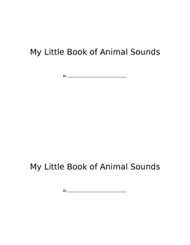 My Little Book of Animal Sounds