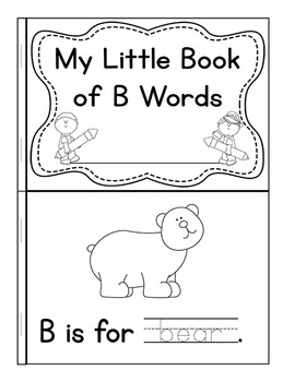 My Little Book of B Words