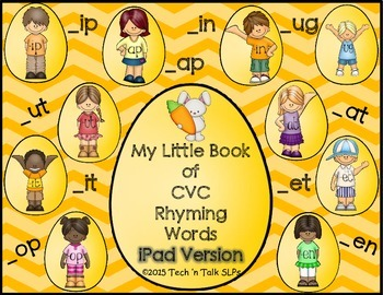 My Little Book of CVC Rhyming Words - No Print