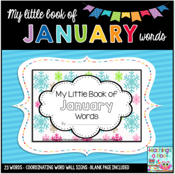 Winter word walls resources lesson plans teachers pay teachers my little book of january words coordinating word wall signs sciox Gallery