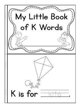 My Little Book of K Words