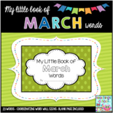 My Little Book of March Words + coordinating word wall signs