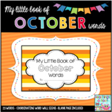 My Little Book of October Words + coordinating word wall signs