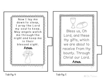 My Little Book of Prayers Mini Book, Interactive Notebook, Activity, No Prep