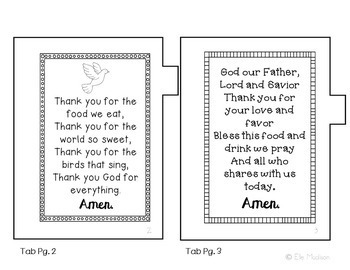 My Little Book of Prayers Mini Book, Interactive Notebook, Activity, No Prep