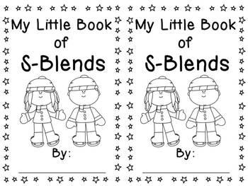 my little book of s blends by miss giraffe teachers pay teachers. Black Bedroom Furniture Sets. Home Design Ideas