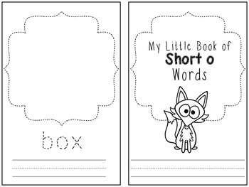My Little Book of Short o Words!