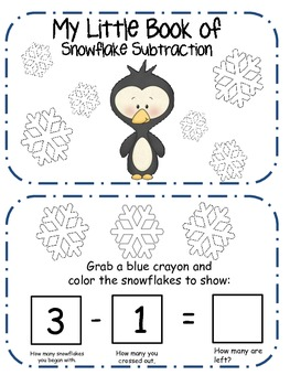 My Little Book of Snowflake Subtraction
