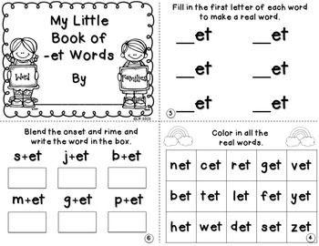 My Little Books {Word Families Edition}