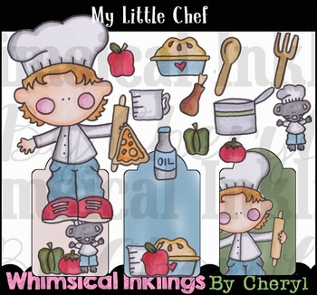 My Little Chef-Cooking Clipart Collection