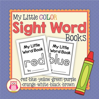 Color Word Little Books: red yellow blue purple orange green brown black white